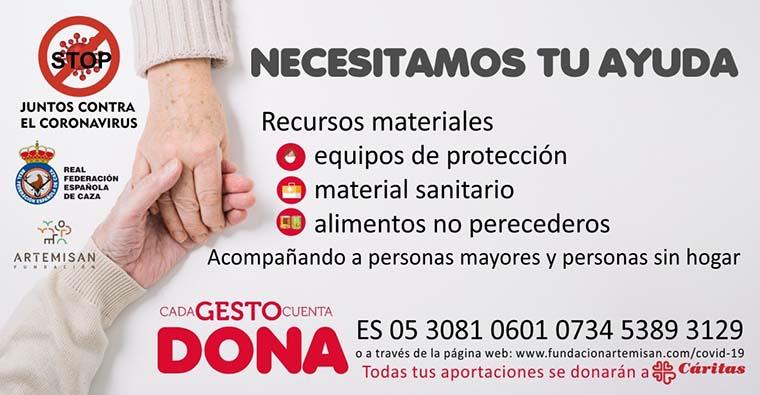 """<h2 class='tahoma bold texto20 c_c0202e'><a href='https://www.frdcaza.org/noticia/368/CaRITAS-ANTE-EL-CORONAVIRUS' class='c_c0202e'>CÁRITAS ANTE EL CORONAVIRUS</a></h2><p class='tahoma c_454545 texto12 margin0'>La Federación Riojana de Caza a través de la RFEC y Fundación Artemisan a iniciado una campaña de recogida de fondos para el proyecto """"Cáritas ante el coronavirus"""".</p><a href='https://www.frdcaza.org/noticia/368/CaRITAS-ANTE-EL-CORONAVIRUS' class='tahoma c_454545 texto12'>Seguir leyendo></a>"""