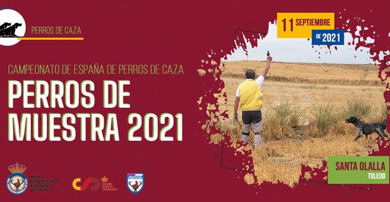 ABIERTA LAS INSCRIPCIONES PARA EL CAMPEONATO DE ESPAÑA DE PERROS DE MUESTRA PERROS DE CAZA 2021