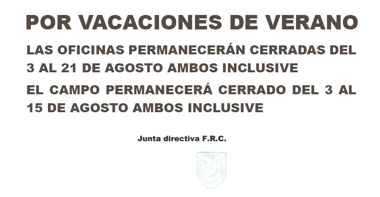 Vacaciones en la Federación Riojana de Caza